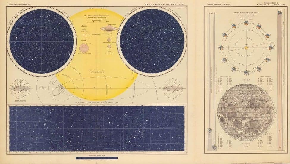 Aleksandr Fedorovich Gorkin. Zvezdnoe nebo i solnechnaya Sistema, 1937