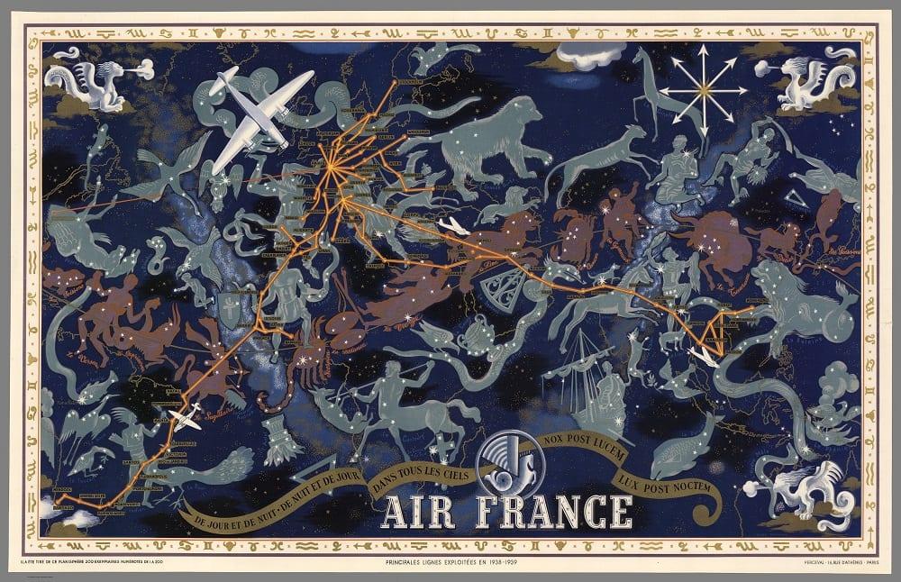 Lucien Boucher. Air France: De nuit et des jours dans tous les ciels, 1939